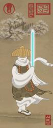 Samurai Star Wars in Edo Ukiyoe - Obi-Wan Kenobi