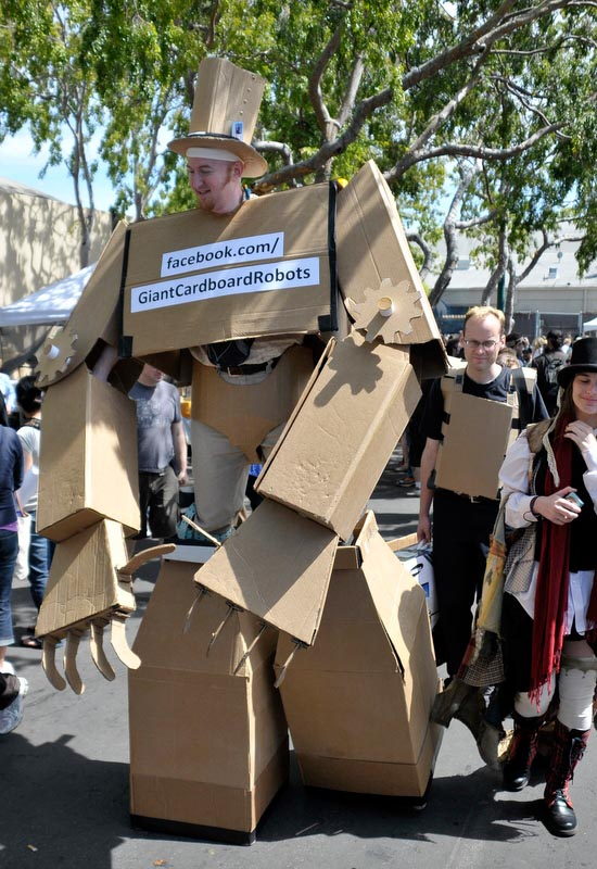 ... . Of course, we tend to make the giant cardboard robot by ourselves