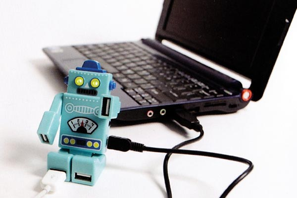 Available 4-Port Robot USB Hub