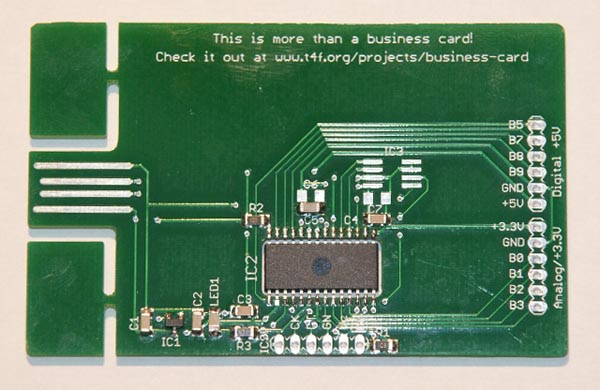 Circuit Board Digital Business Card | Gadgetsin