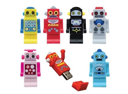 Colorful Robot USB Flash Drive