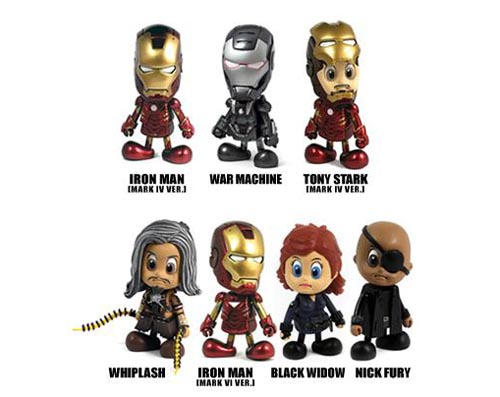 Cute Iron Man 2 Cosbaby Mini Action Figure Series