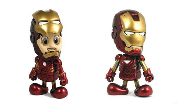 Iron Man Car >> Cute Iron Man 2 Cosbaby Mini Action Figure Series   Gadgetsin