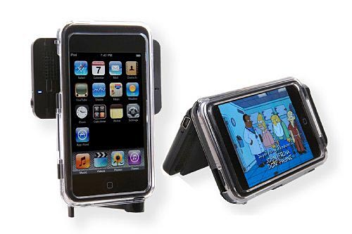 Cyanics Portable Speaker Doubled as iPod Case and Stand