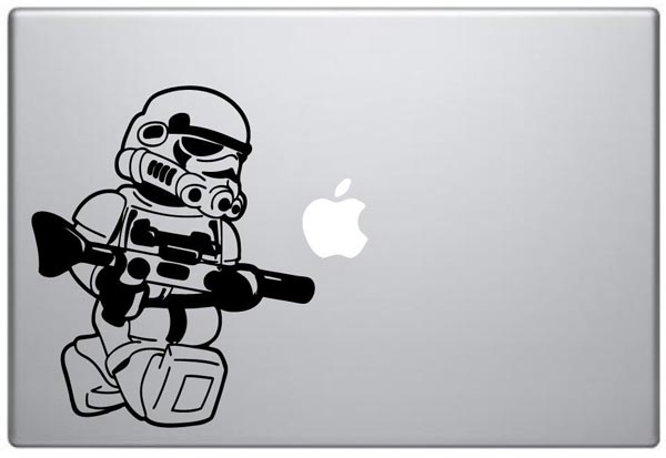 LEGO Stormtrooper Minifigure MacBook Decal
