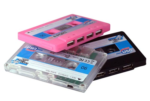 More Powerful Cassette 4 Port USB Hub