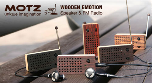 Motz Tiny Wooden Emotion Speaker Integrated FM Radio