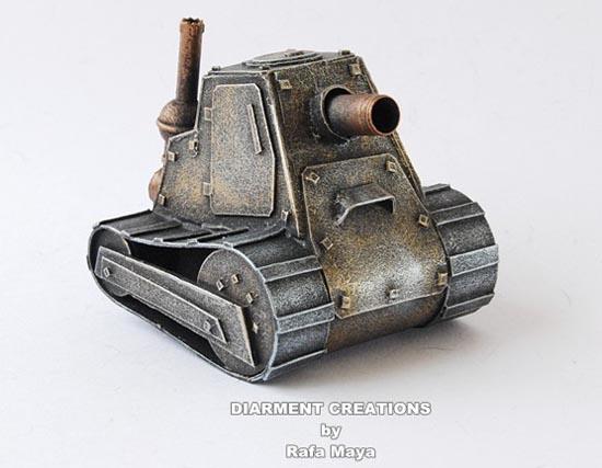 Steampunk Tiny Tank Model