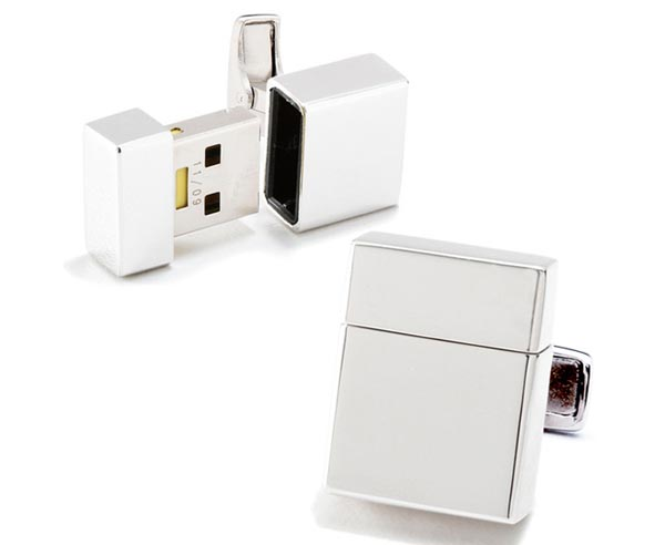 Stunning Cufflinks Doubled as USB Flash Drive