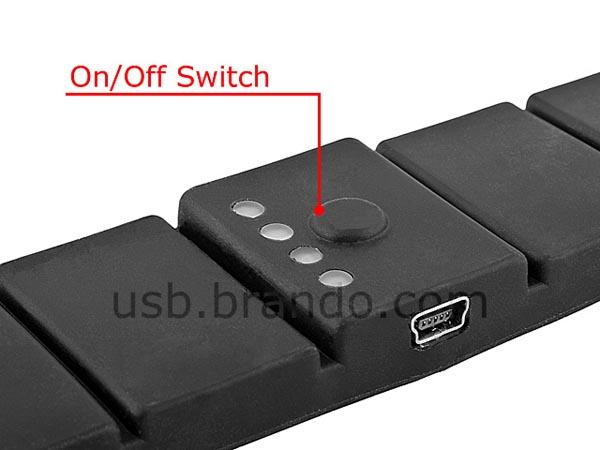 Usb External Battery Charger Shaped As Wrist Band Gadgetsin