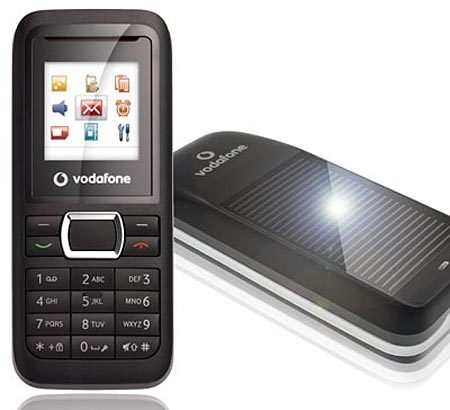 Vodafone 247 Solar Powered Cell Phone