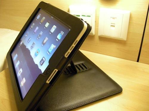 Handmade iPad Leather Case Integrated Stand