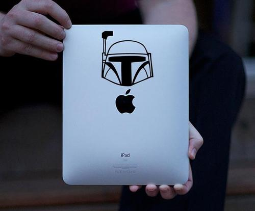 Star Wars Boba Fett Helmet iPad Decal