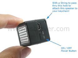 Fingertip Cube Tiny Speaker
