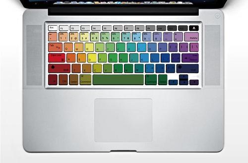 Colorful Rainbow MacBook Keyboard Stickers