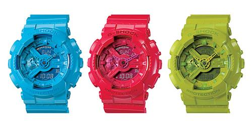 Colorful Casio GA110 G-Shock Watch Series