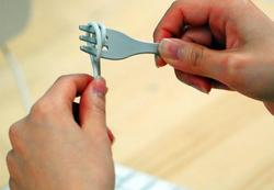 Fork-shaped cable organizer