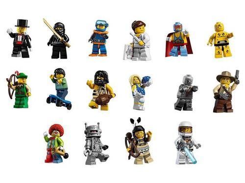 Collect all 16 LEGO Minifigures in 8683 Series