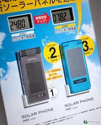 Sharp Solar Powered Flip Cell Phone SH007