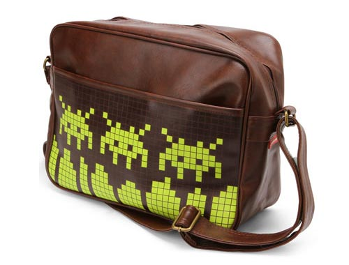 8-bit Space Invaders Messenger Bag
