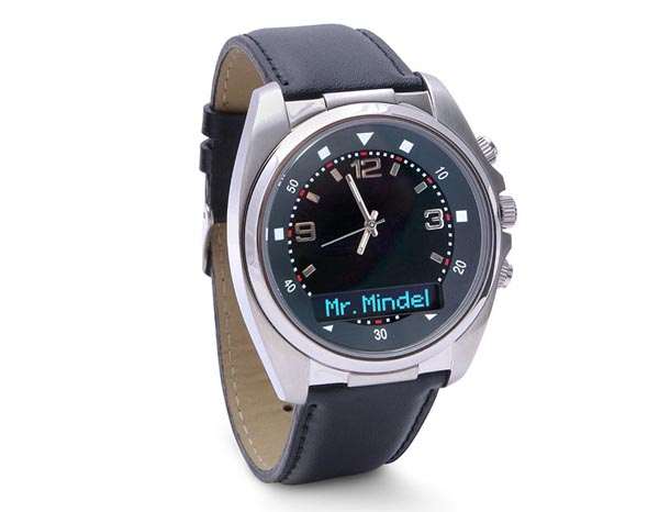 Bluetooth Watch Showing Caller ID of Cell Phone