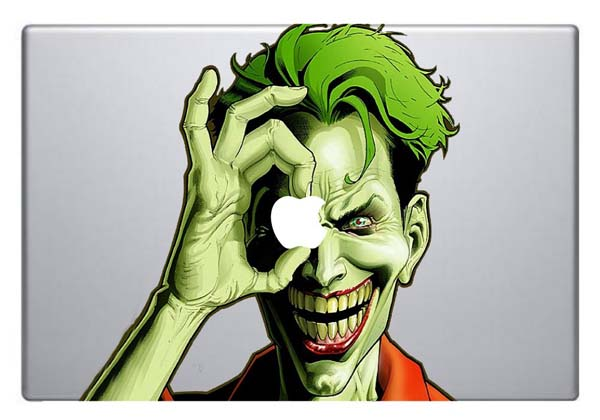 Colorful Joker MacBook Sticker