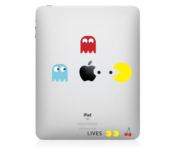Colorful Pacman iPad Decal