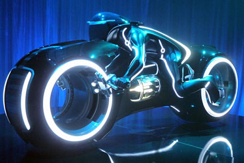 Custom Built Tron Legacy Light Cycle