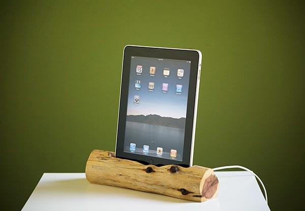 Eco-friendly Wooden iPad Docking Station