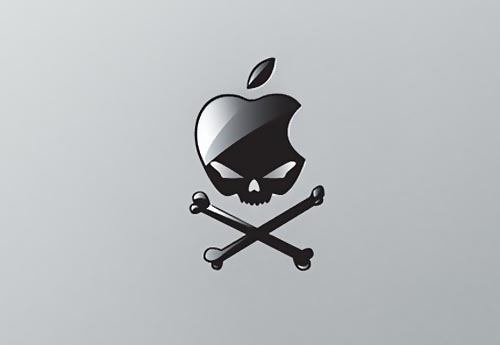 Evil Apple Skull MacBook Sticker