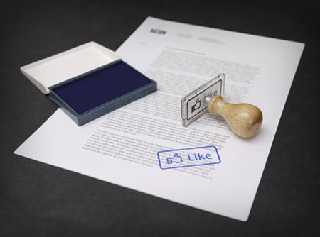 Facebook Like and Dislike Button Rubber Stamps