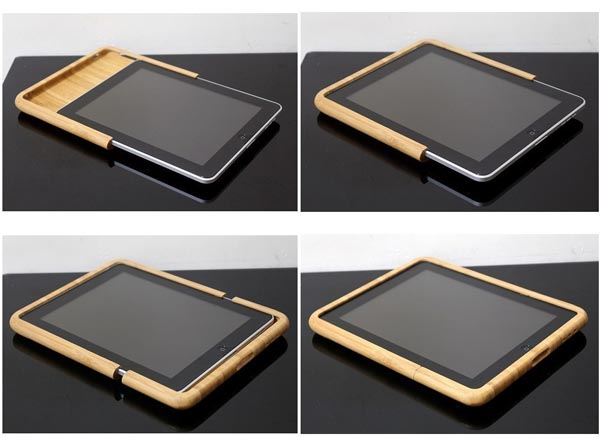 FelTu iPad Wooden Case
