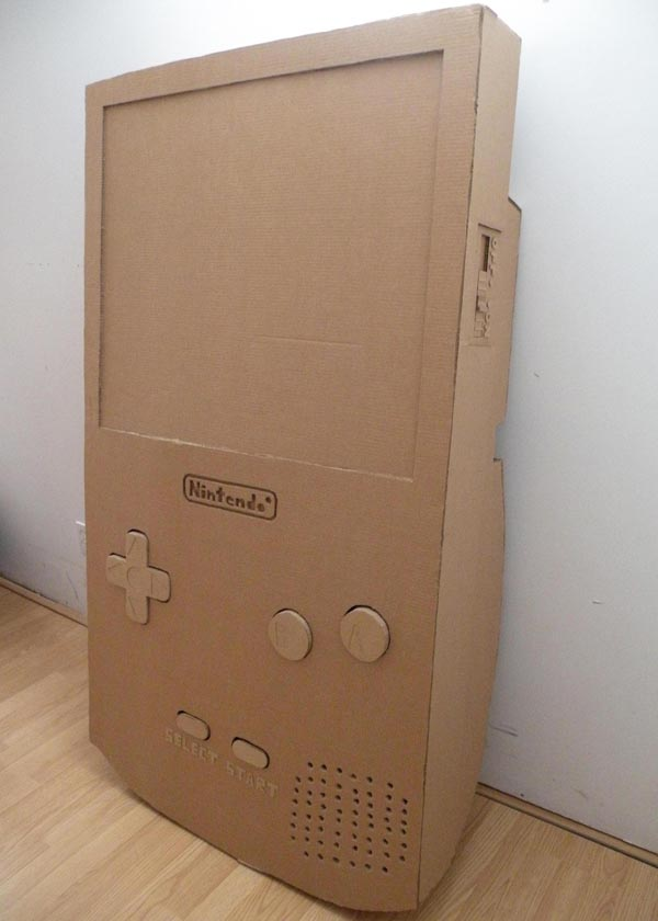 Giant Cardboard Nintendo Gameboy