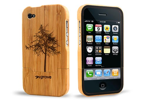 Grove Custom Wooden iPhone 4 Case