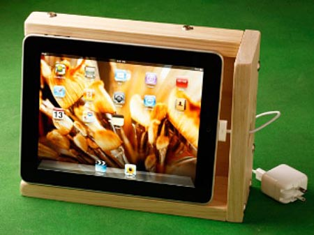 iBox Wooden iPad Stand with Sound Enhancing Function