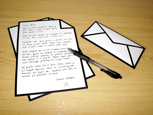 Icon Envelope and Letter for Our Geek Life