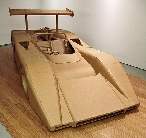 Incredible Cardboard McLaren M8B by Chris Gilmour