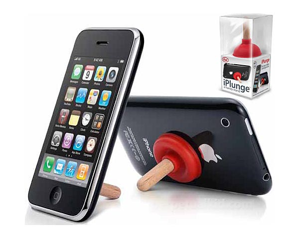 iPLUNGE Plunger Shaped iPhone Stand