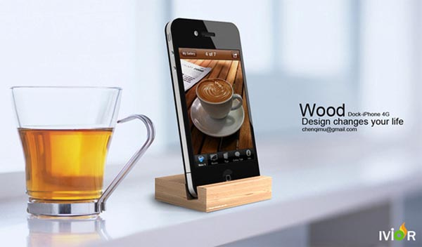 Ivior iPhone 4G Wooden Dock