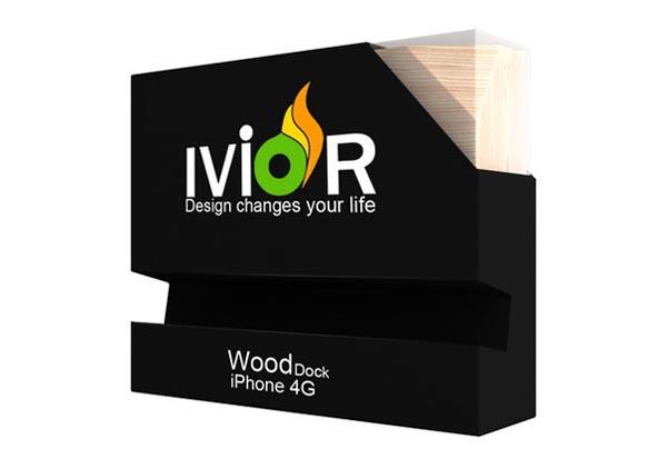 Ivior iPhone 4G Wooden Dock