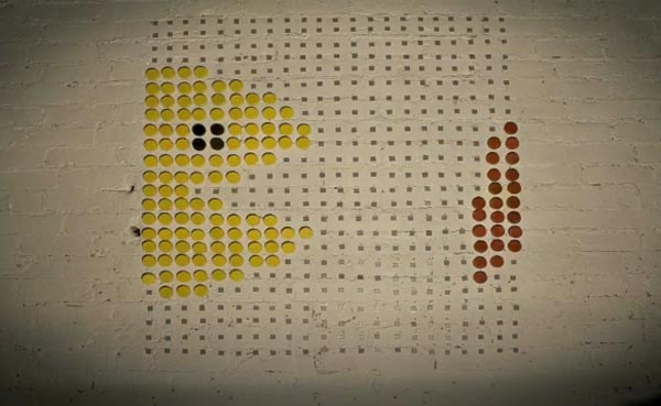 Retro Game Stop-Motion Video Created with Milk Bottle Tops and LEGO