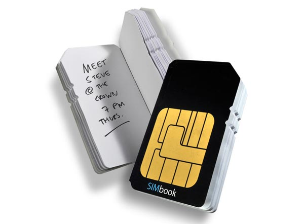 SIM Card Notebook Saves Your Phone Numbers