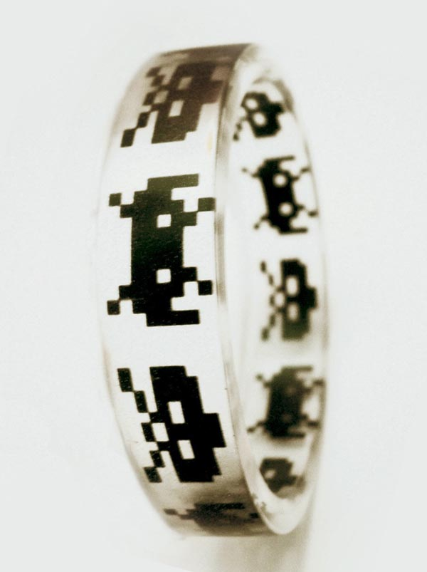 Space Invaders Bangle Bracelet