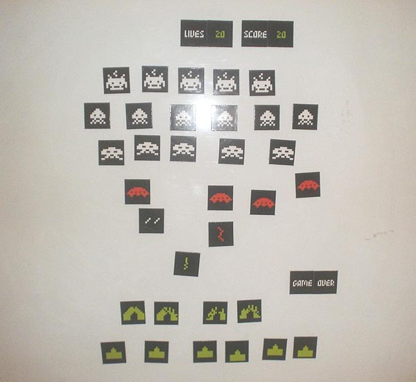 Space Invaders Fridge Magnets