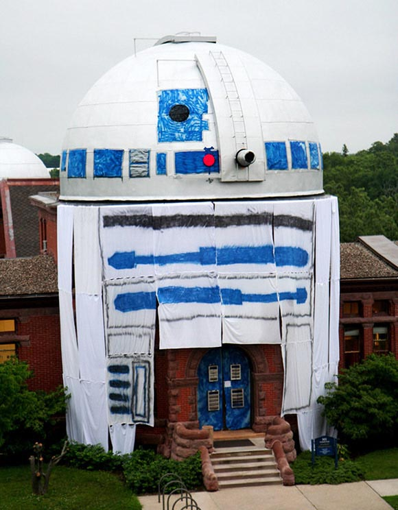 Star Wars R2-D2 Observatory from Carleton College