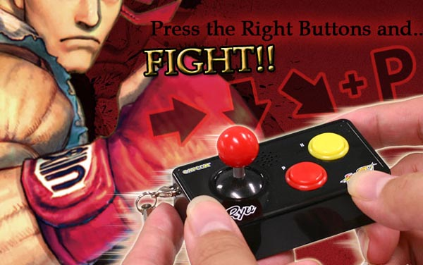 Street Fighter IV Joystick Voice Keychain