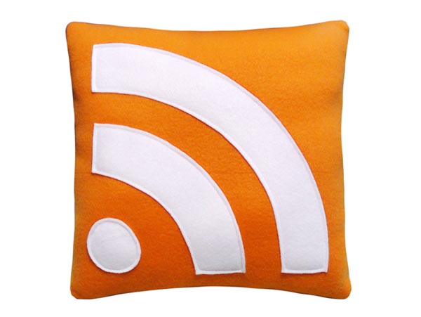 Subscribe RSS Feed Icon Pillow