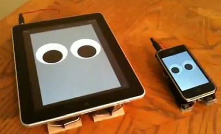 Cute iPhone and iPad Walking Robot