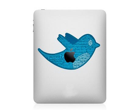 Two Twitter Bird iPad Decals