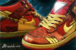 War Machine and Iron Man Custom Sneackers
